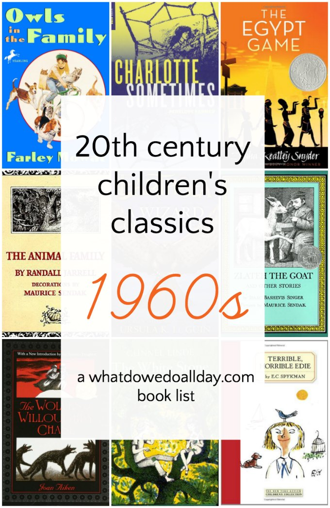 Classic children's books 1960s. Book list series of the best book of the 20th century.