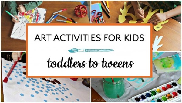 List of indoor art activities for kids
