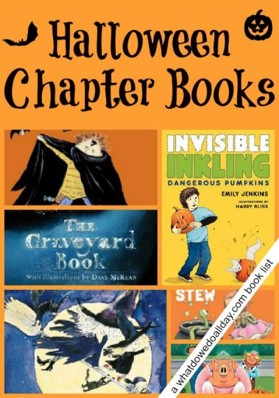 Halloween chapter books for kids at a variety of reading levels.