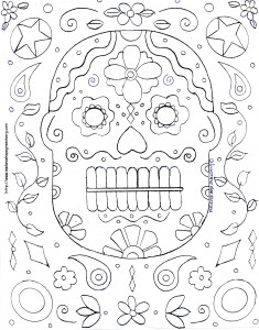 Halloween Mask Coloring Page