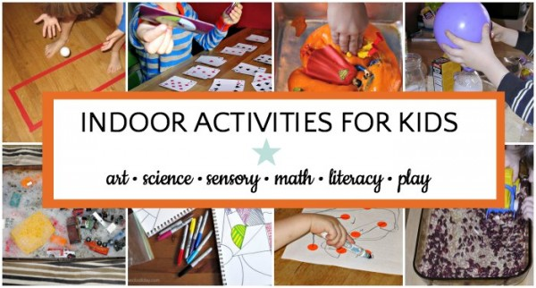 Giant list of fun indoor activities for kids.