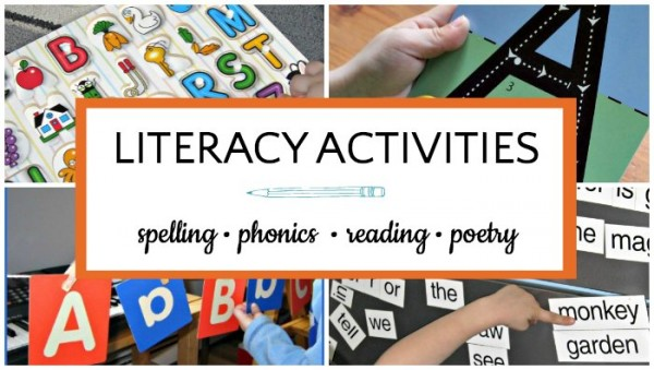 Literacy activities for kids to prepare them for reading