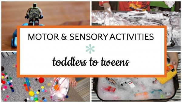 List of indoor motor and sensory activities for kids.