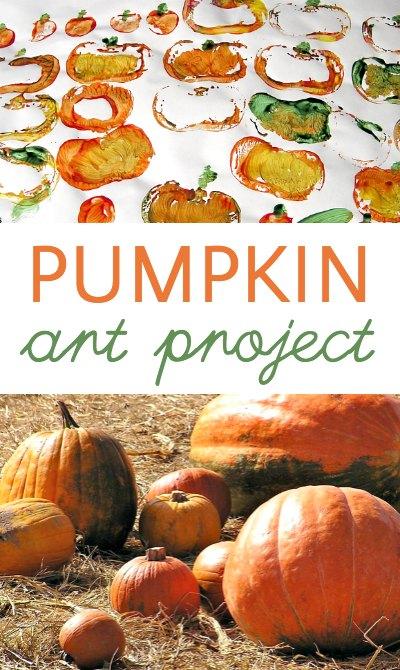 Super easy mini pumpkin prints art project for kids.