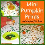 Mini Pumpkin Prints Art Project