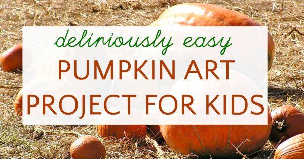 mini pumpkin art project for kids