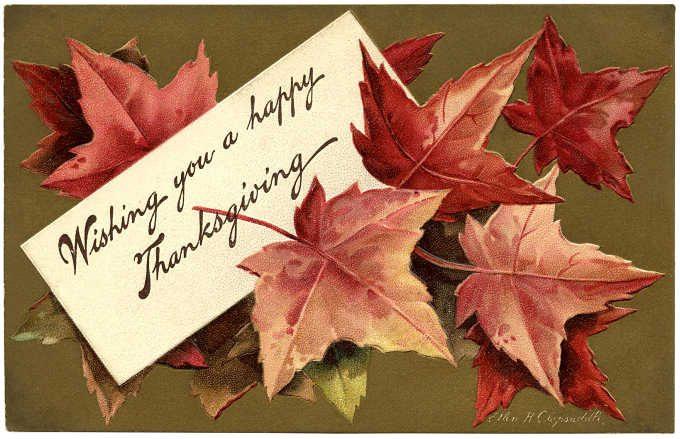 Fall leaf Thanksgiving card