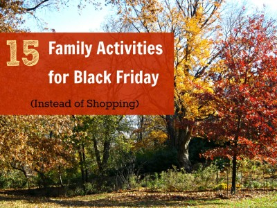 fun family activites for black friday