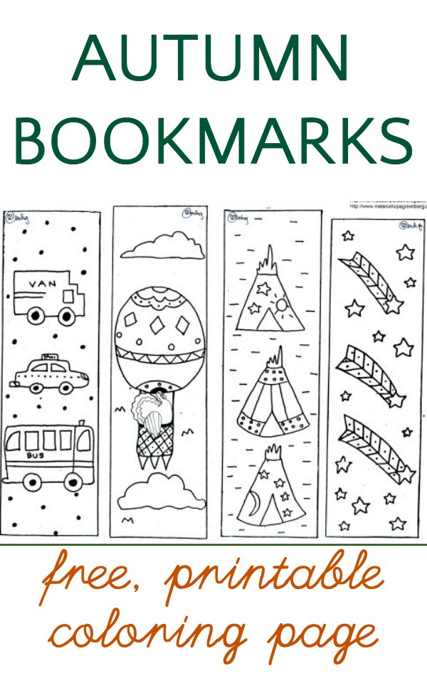 Free Thanksgiving Coloring Page Bookmarks