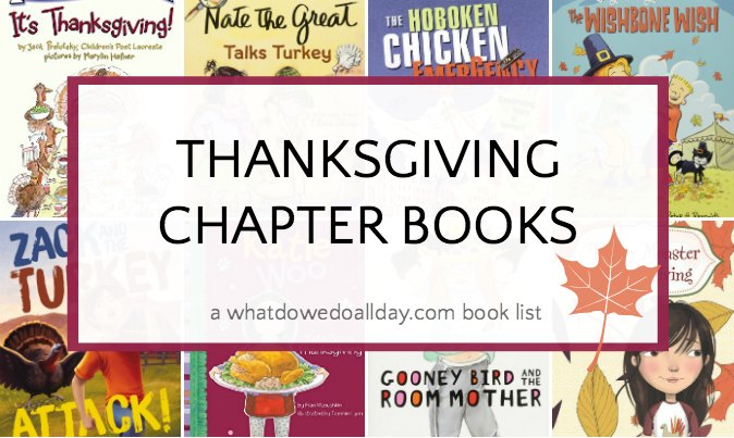 Thanksgiving themed chapter books for children