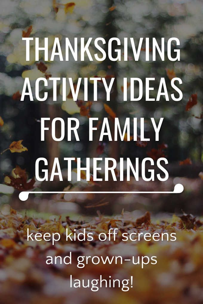 What to do with the kids on Thanksgiving