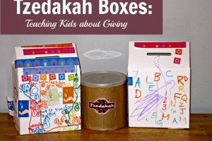 teaching kids about tzedakah