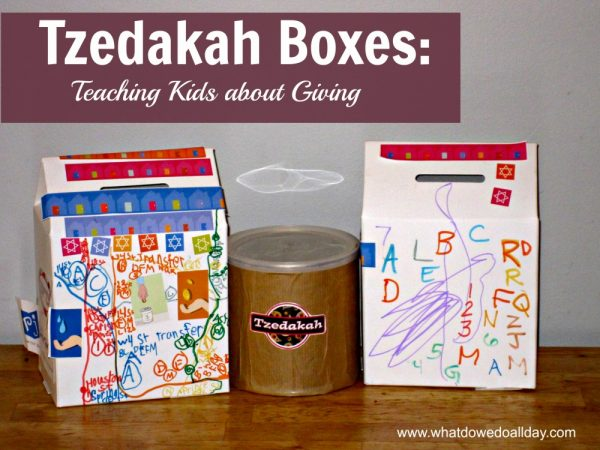 teaching kids about tzedakah