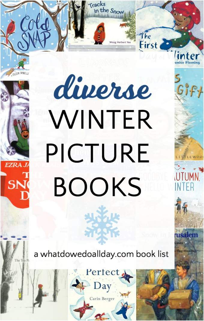 Diverse children's books about winter. Pick up and read one of these sparkling diverse winter picture books and transport yourselves to a winter wonderland of magic and fun. Click through for the full list.