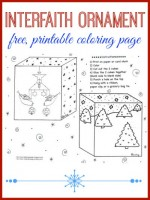 Multicultural ornament coloring page for I