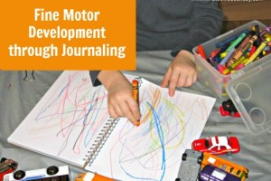 "Preschool Fine Motor Development Activity:  Journal ""Writing"""