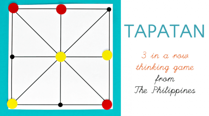 Tapatan is a 3 in a row abstract strategy game from The Philippines