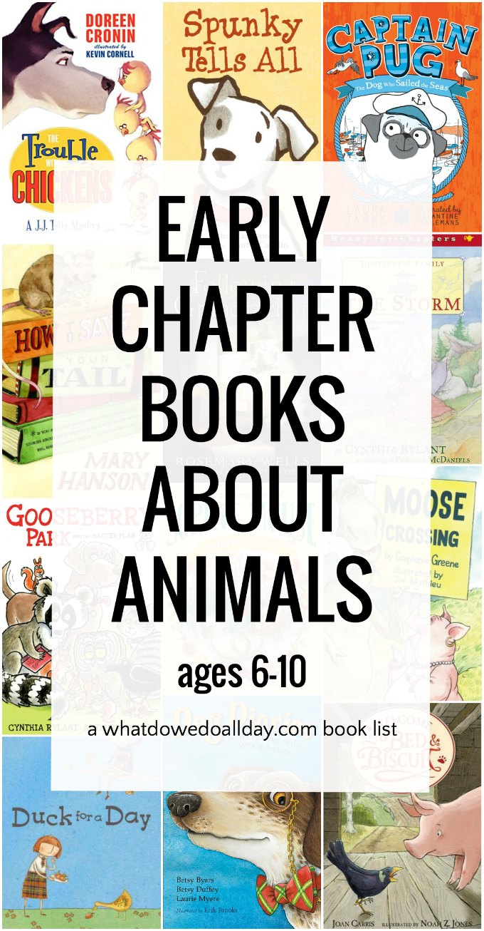 First chapter books for kids about animals