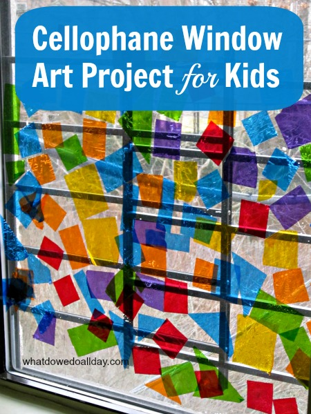 Easy Faux Stained Glass Window Art Project for Kids