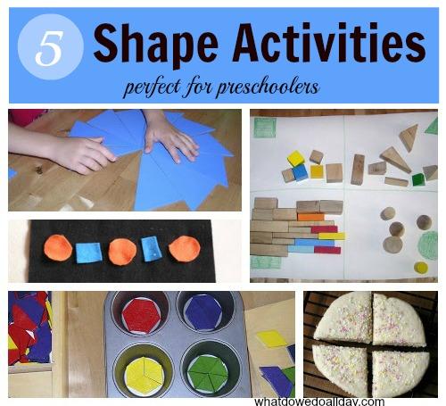 Five Shape Activities perfect for preschoolers