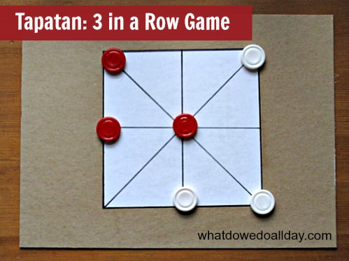 Drawing Lines Of Symmetry Games : 3 in a row game: tapatan