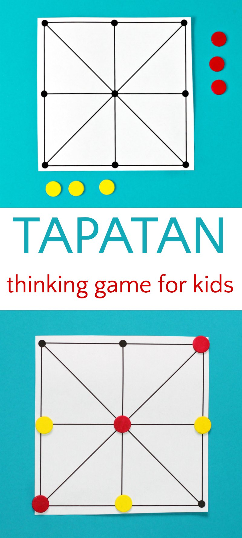 3 in a row abstract strategy game Tapatan