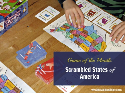 Fun and educational game - Scrambled States of America