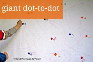 Giant dot-to-dot activity for large and small motor skill activities
