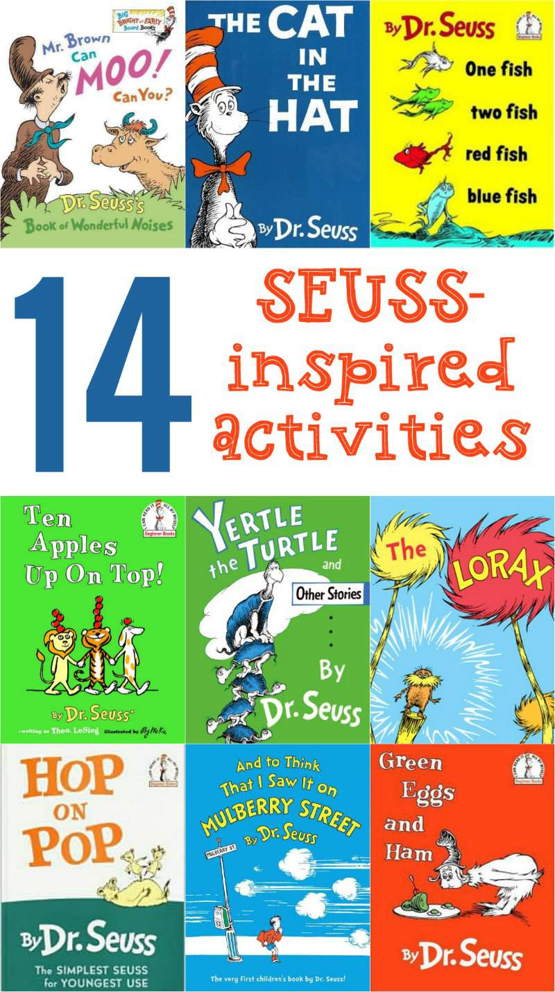 Dr seuss activities for kids for One fish two fish read aloud