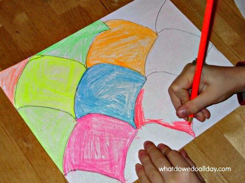 Math Activity: tessellation coloring activity