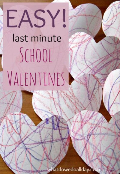 Simple valentines for young children to make in bulk.