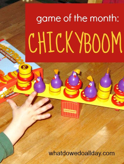 Chickyboom game teaches balance and uses fine motor skills