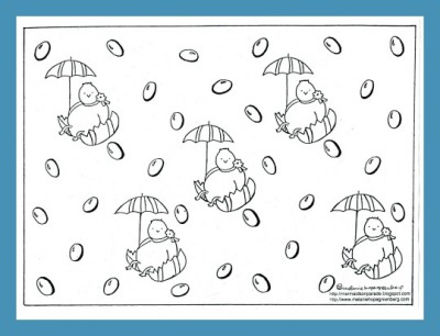 Easter Coloring Page Free Printable from children's illustrator Melanie Hope Greenberg