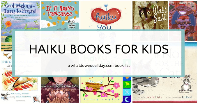 Haiku picture books for kids