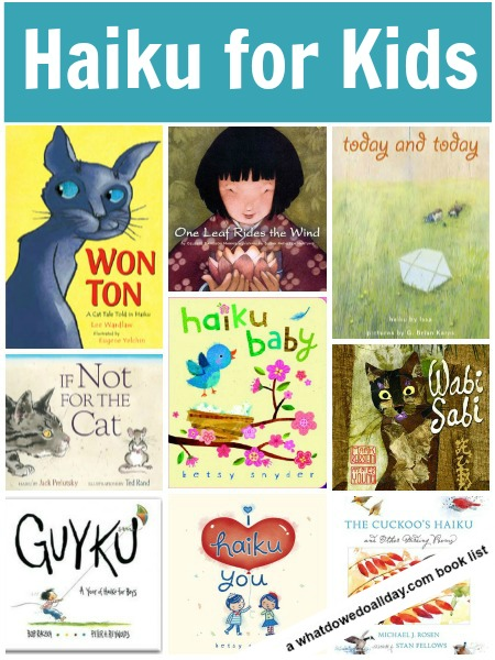Haiku poetry books for kids, a list of inspiring books