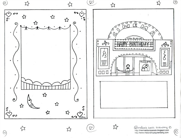 image relating to Printable Birthday Cards to Color titled Printable Birthday Card toward Colour