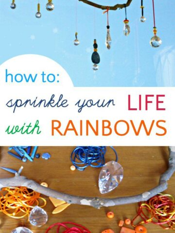 How to make a marvelous prism mobile to spread rainbow joy in your home.