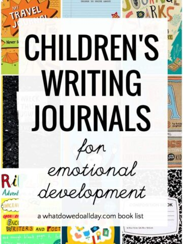 Writing journals for kids that promote emotional development