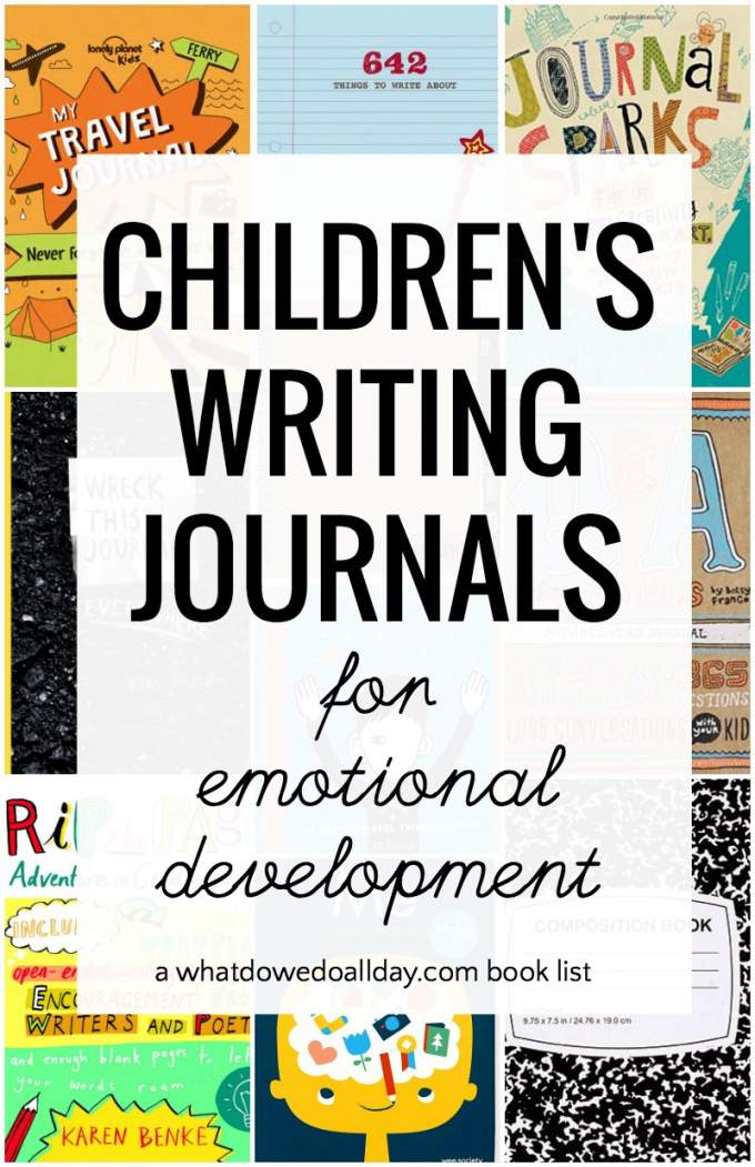 Writing journals for kids. Creative ideas to develop self-awareness and emotional development. #journals #journaling
