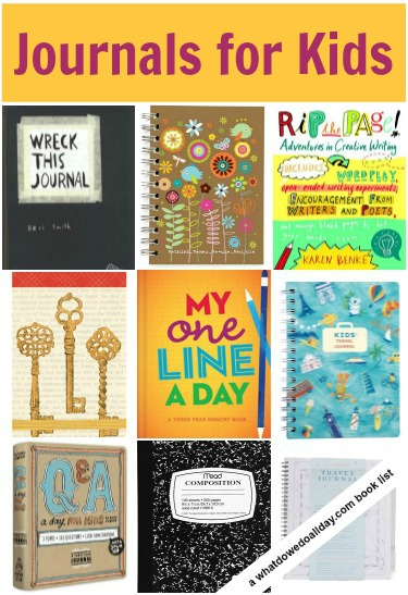 A list of 10 journals for kids to help spark writing