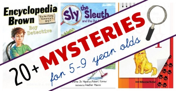 Mystery early chapter books and series for 5 to 9 year olds.