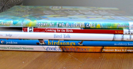 spine poetry activity with kids