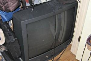 television in closet