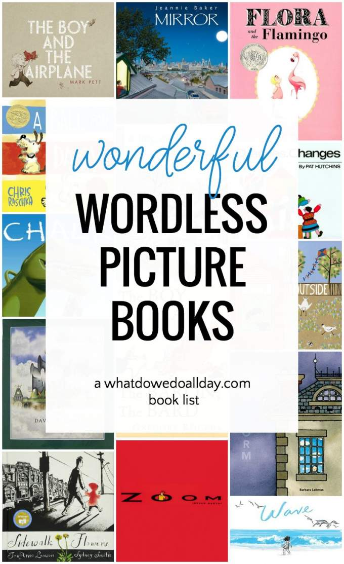 Wordless children's books you will love reading, even if you like you don't like wordless books! #childrensbooks #literacy #books