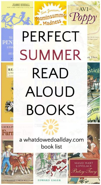 Great books to read aloud in summer