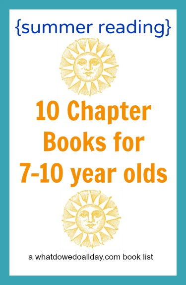 summer reading list for 7 to 10 year olds