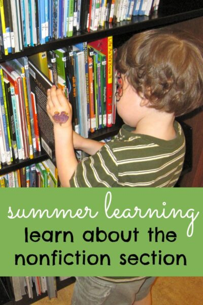 Learn about the nonfiction section in your library with kids. The Great Summer Library Challenge.