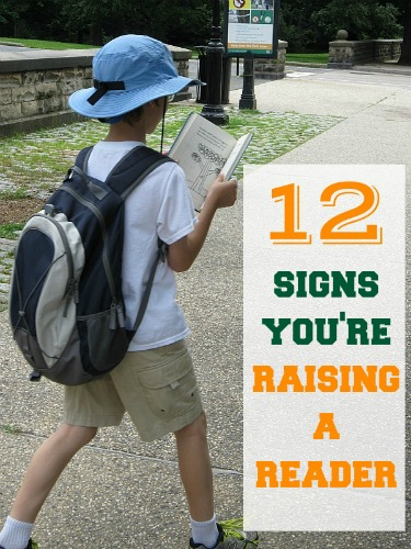 Are you raising a reader? 12 signs.