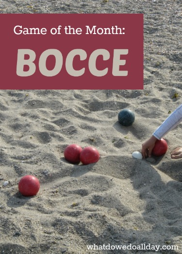 Bocce is a fun outdoor game for kids to try