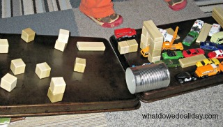 diy magnet obstacle course for toy cars